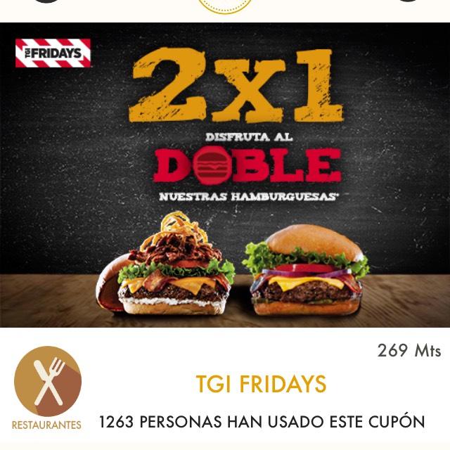 Cuponerapp: TGI Friday's - 2x1 en hamburguesas con la app y más
