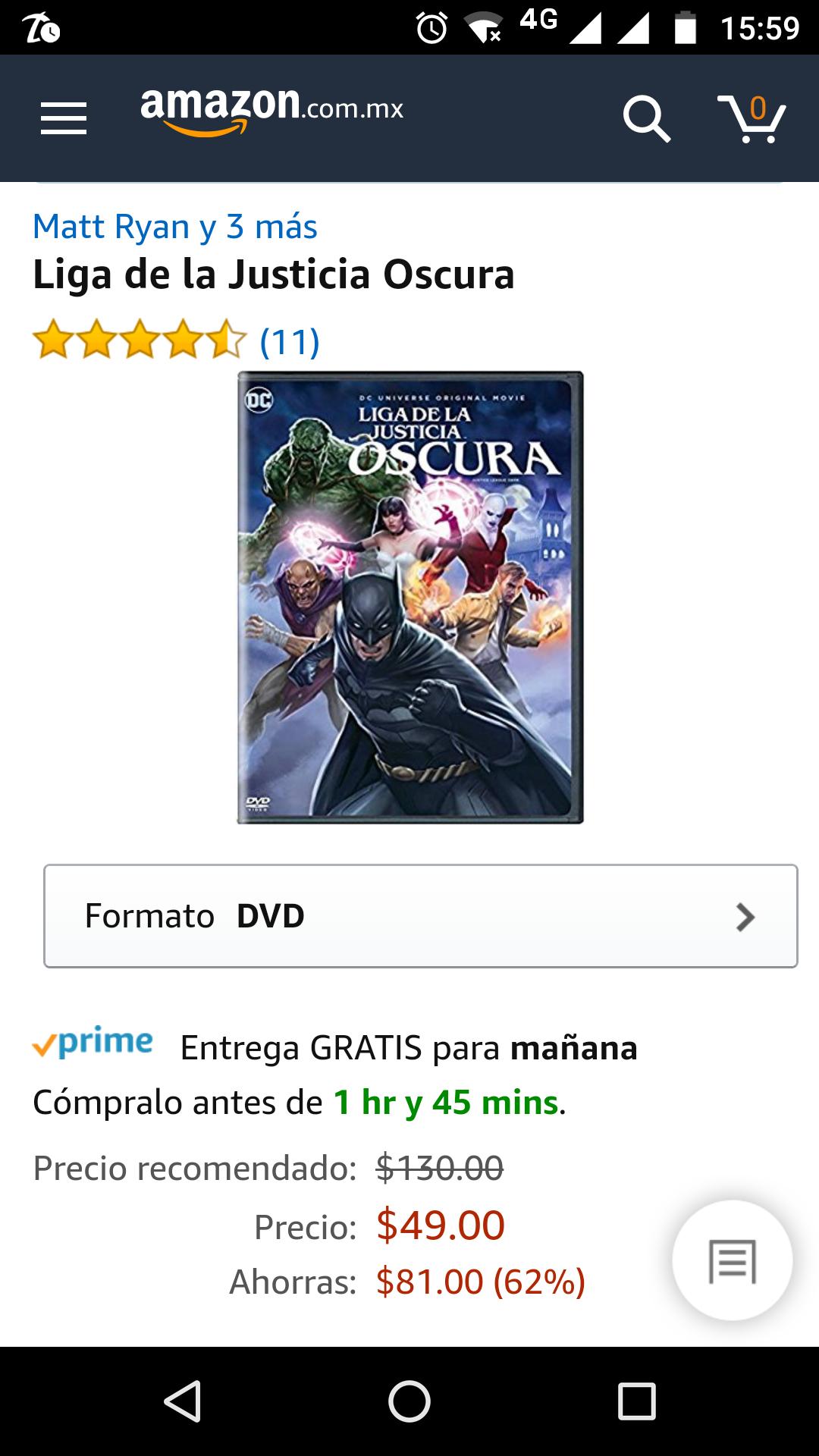 Amazon: Liga de la justicia oscura DVD