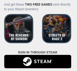 Steam: GRATIS Juegos de SEGA - Streets of Rage 2 y The Revenge of Shinobi