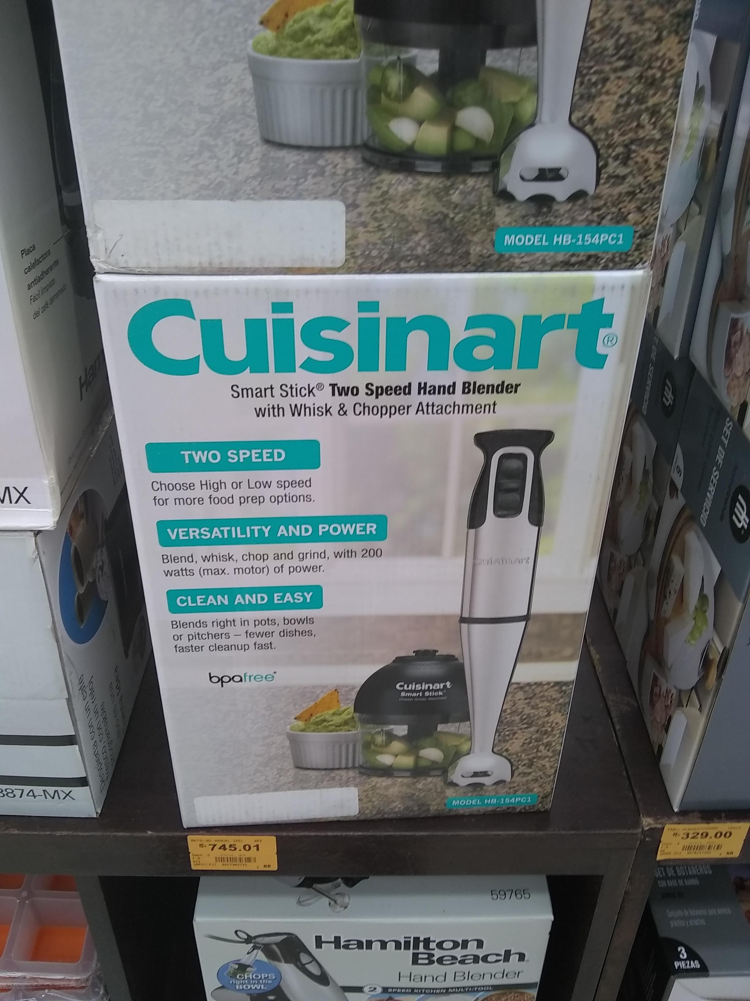 Superama: Batidora de inmersión Cuisinart y Cafetera Dolce Gusto $900.02