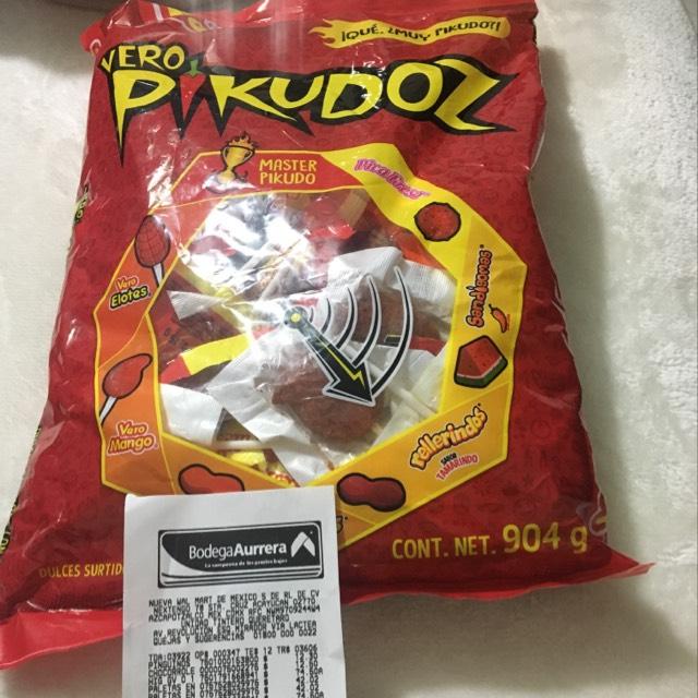 Bodega Aurrerá: Bolsa de dulces paletas Vero Pikudoz a $42.02