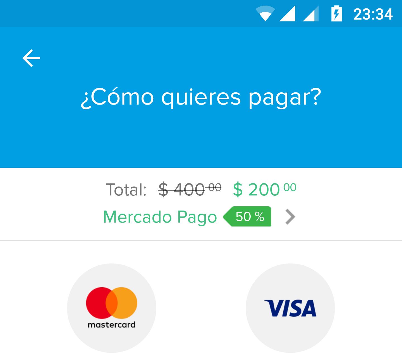 Mercadopago 50% en Pago de Servicios
