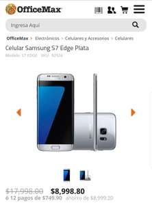 OfficeMax: Samsung S7 Edge Plata