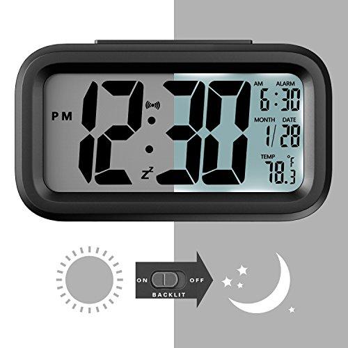 Amazon: Oferta Relampago - Reloj despertador digital con Fecha, Temperatura, Monitor LCD, negro