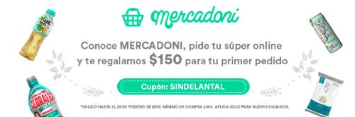 MERCADONI: 150$ para tu primer pedido en la compra de 400$