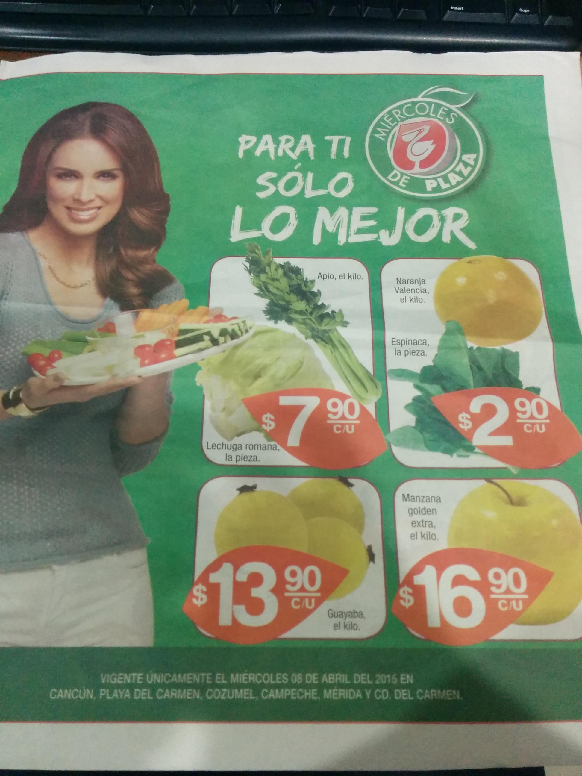 Miércoles de plaza en La comer abril 8: naranja $2.90 el kilo y más