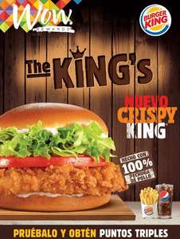 Burger King: Triples puntos WOW en nuevo combo