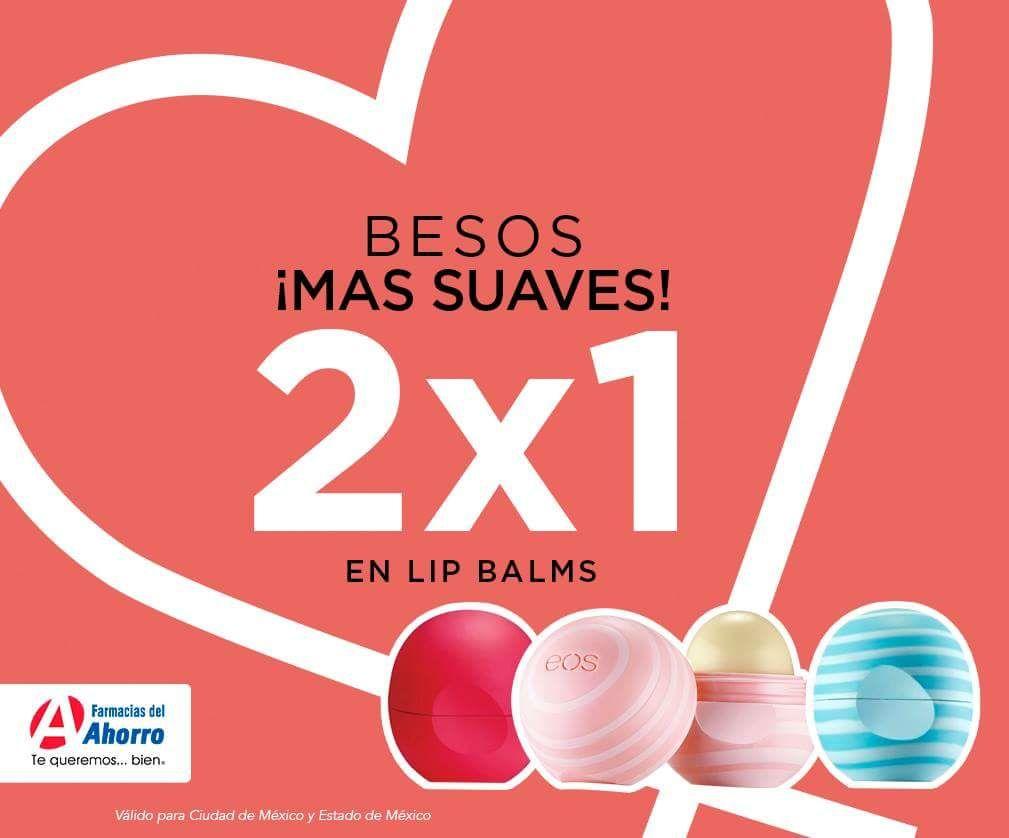 Farmacia del Ahorro: Lip Balms EOS 2x1 (CDMX y Área Metropolitana)