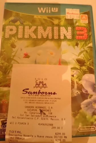 SANBORNS Pikmin 3 a 299 pesos, ni usado en ML, -10% con credito sanborns