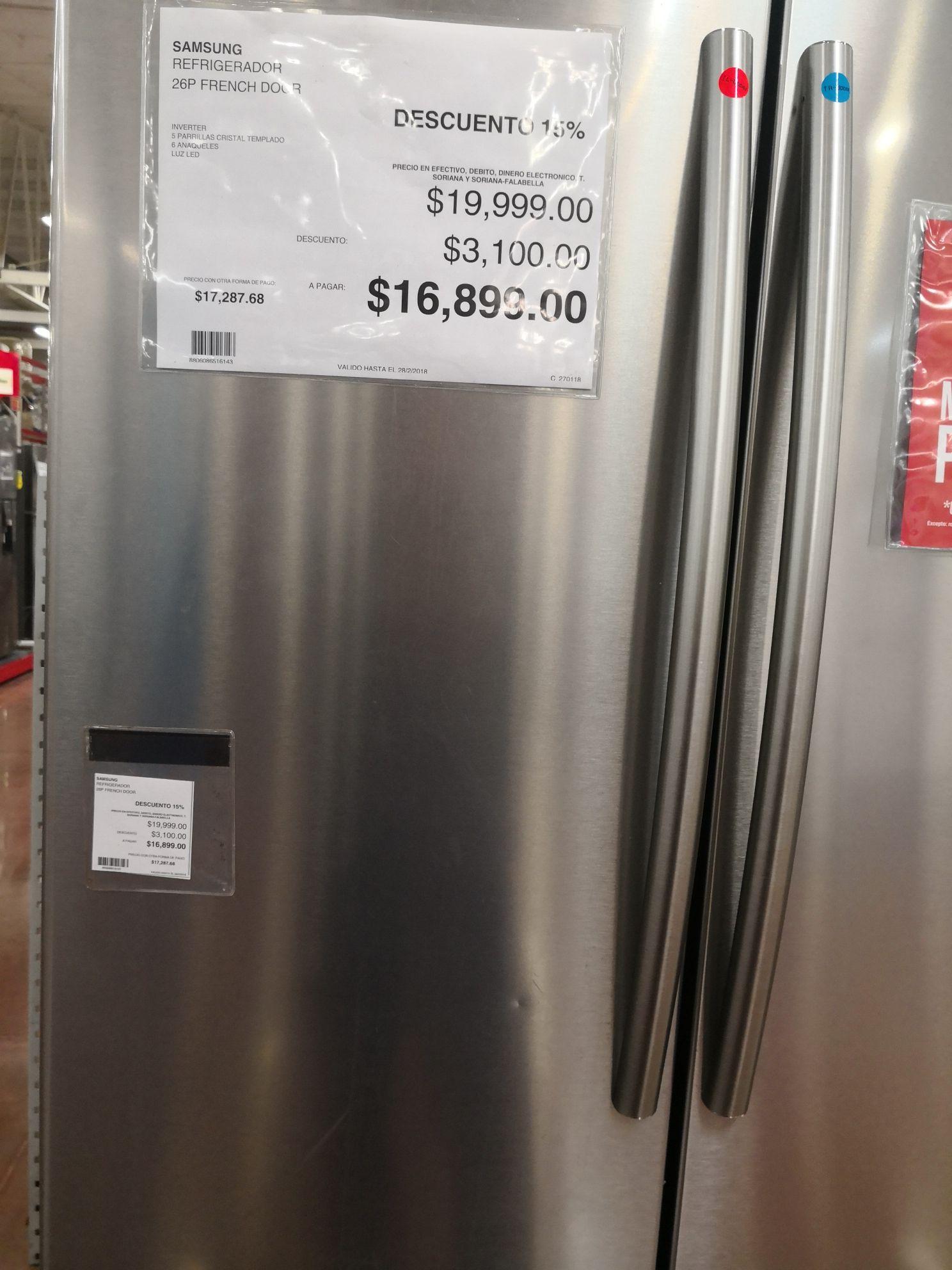 City Club: Refrigerador Samsung Inverter 26p3 french door