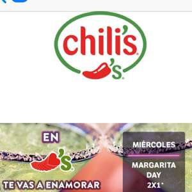 Foody Rewards: Chili's: 2x1 en Margaritas
