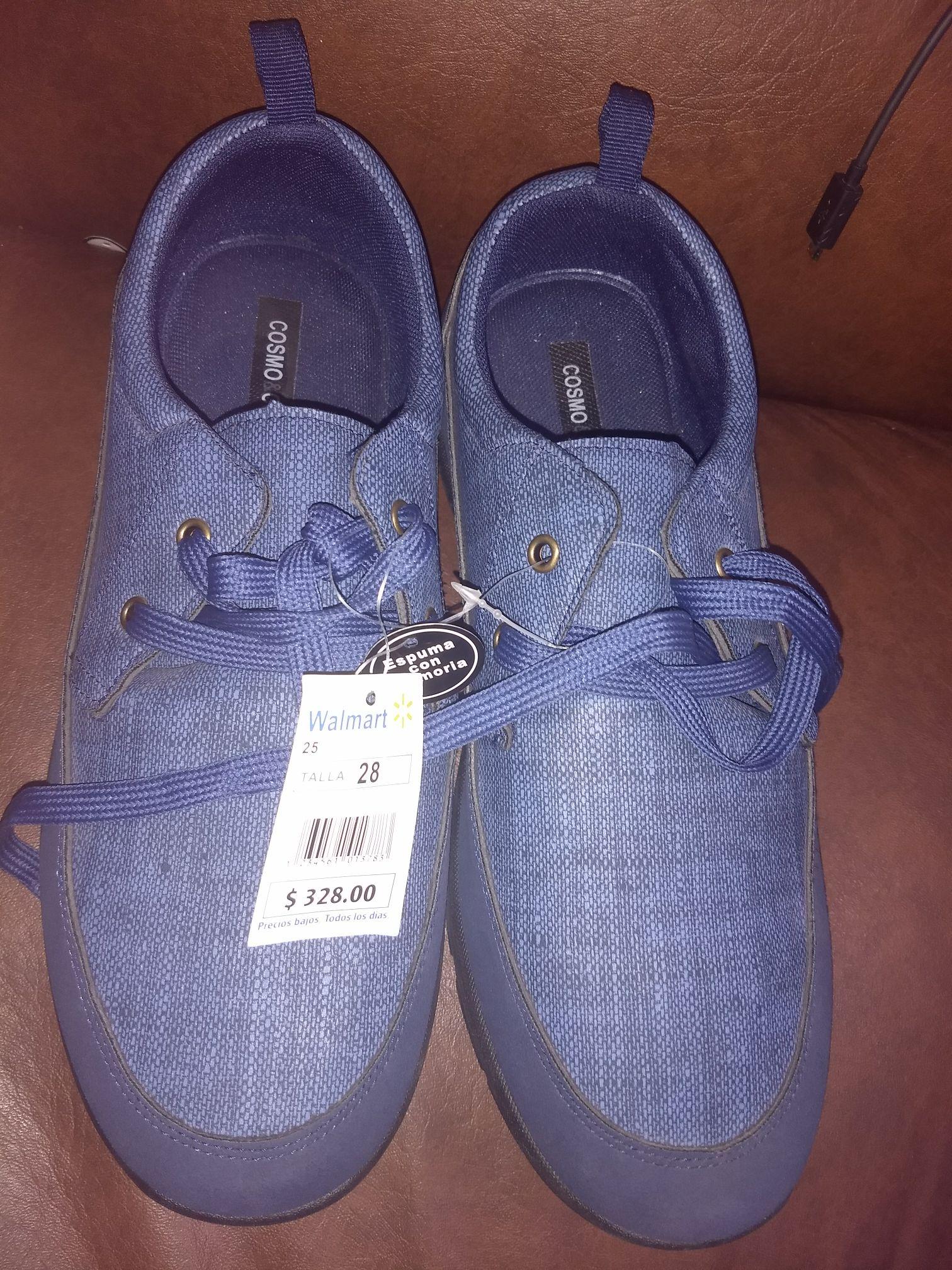 Walmart: zapatos azules