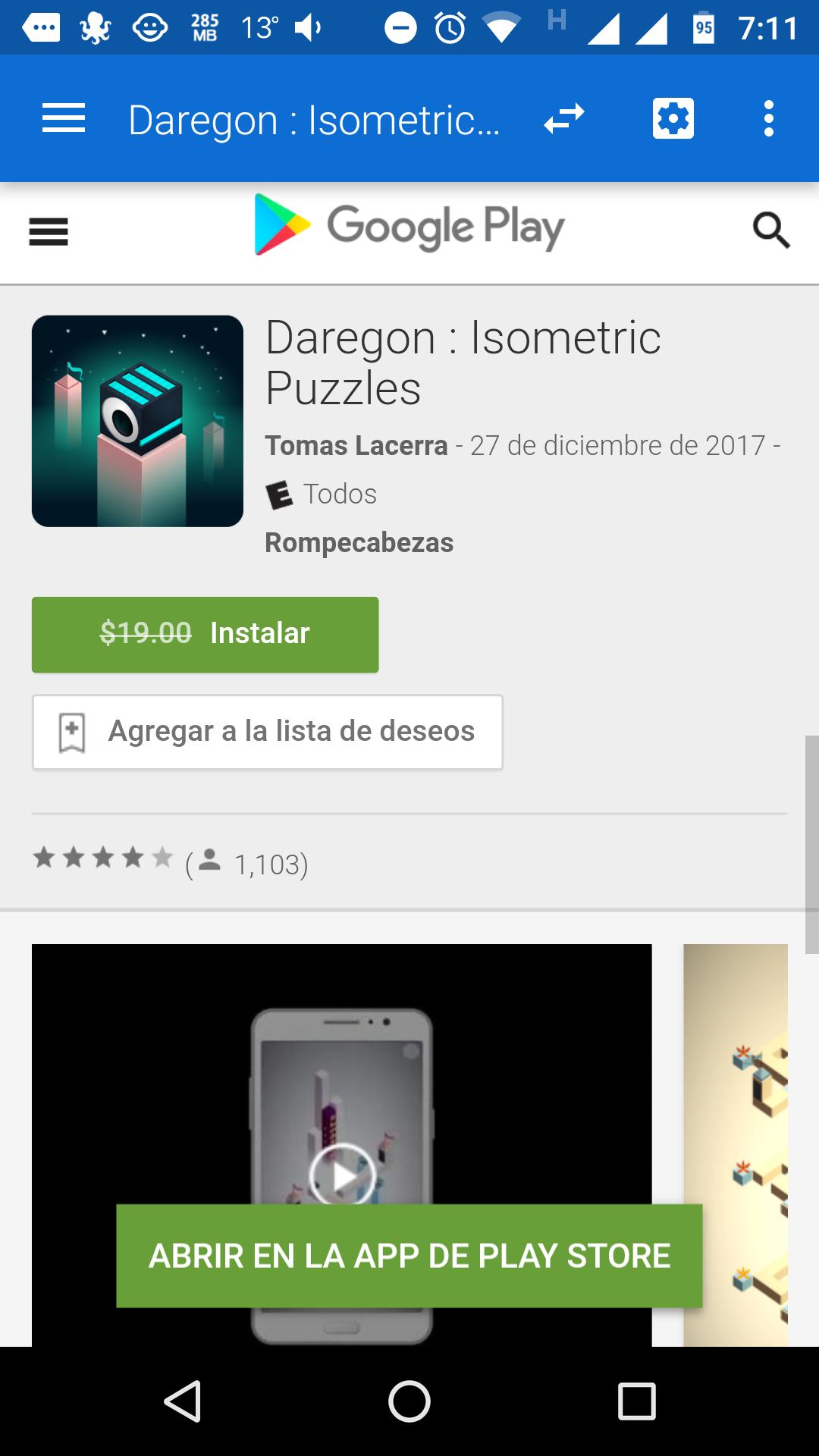 "Google Play: GRATIS  ""Daregon: isométrica"""