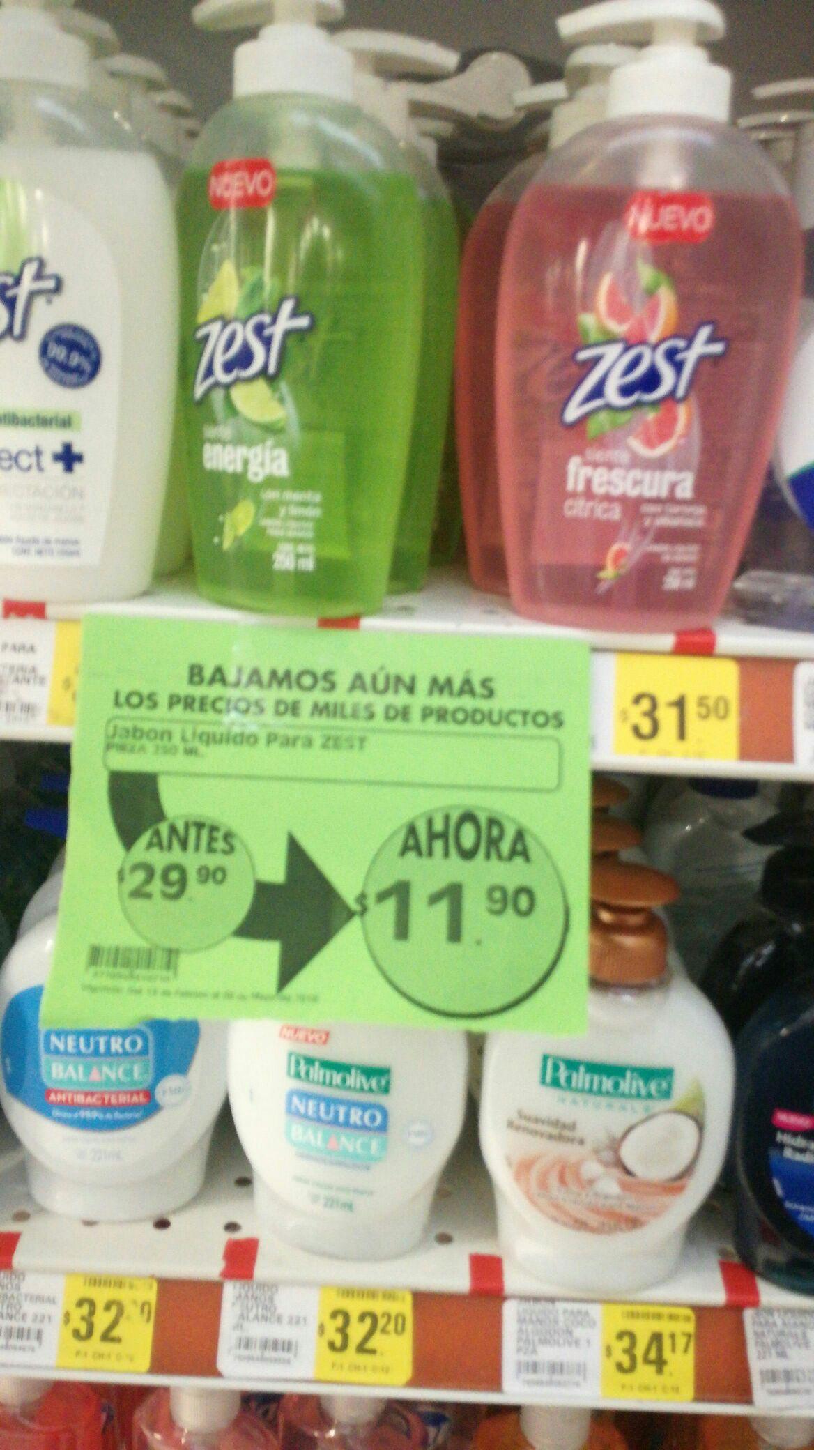 Mega Soriana Nezahualcóyotl: jabón líquido zest