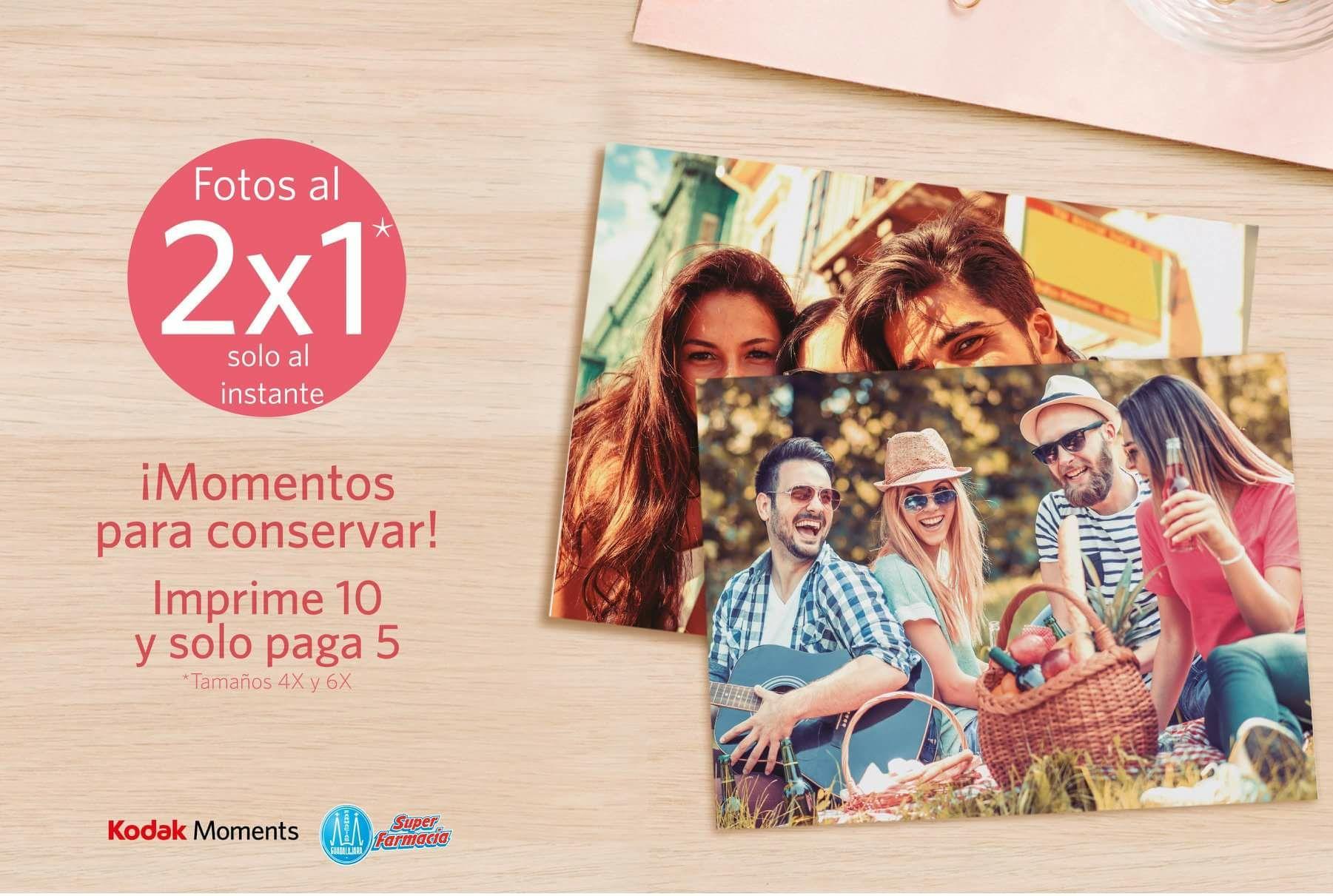 Farmacias Guadalajara - Kodak: 2x1 impresión fotos digitales