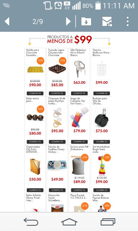 Linio, productos a $99 o menos