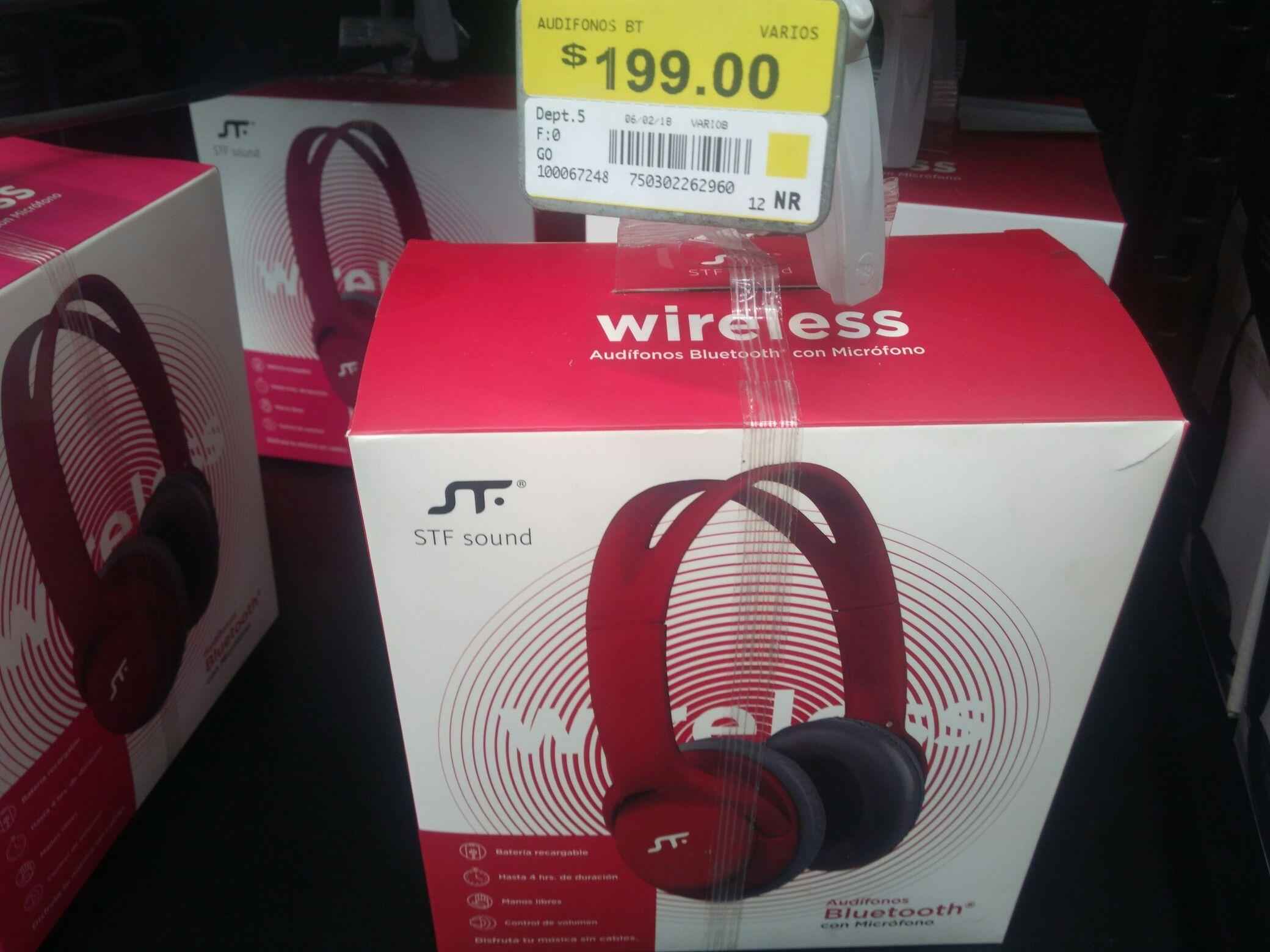 Walmart: Audífonos Bluetooth c/ Micrófono STF