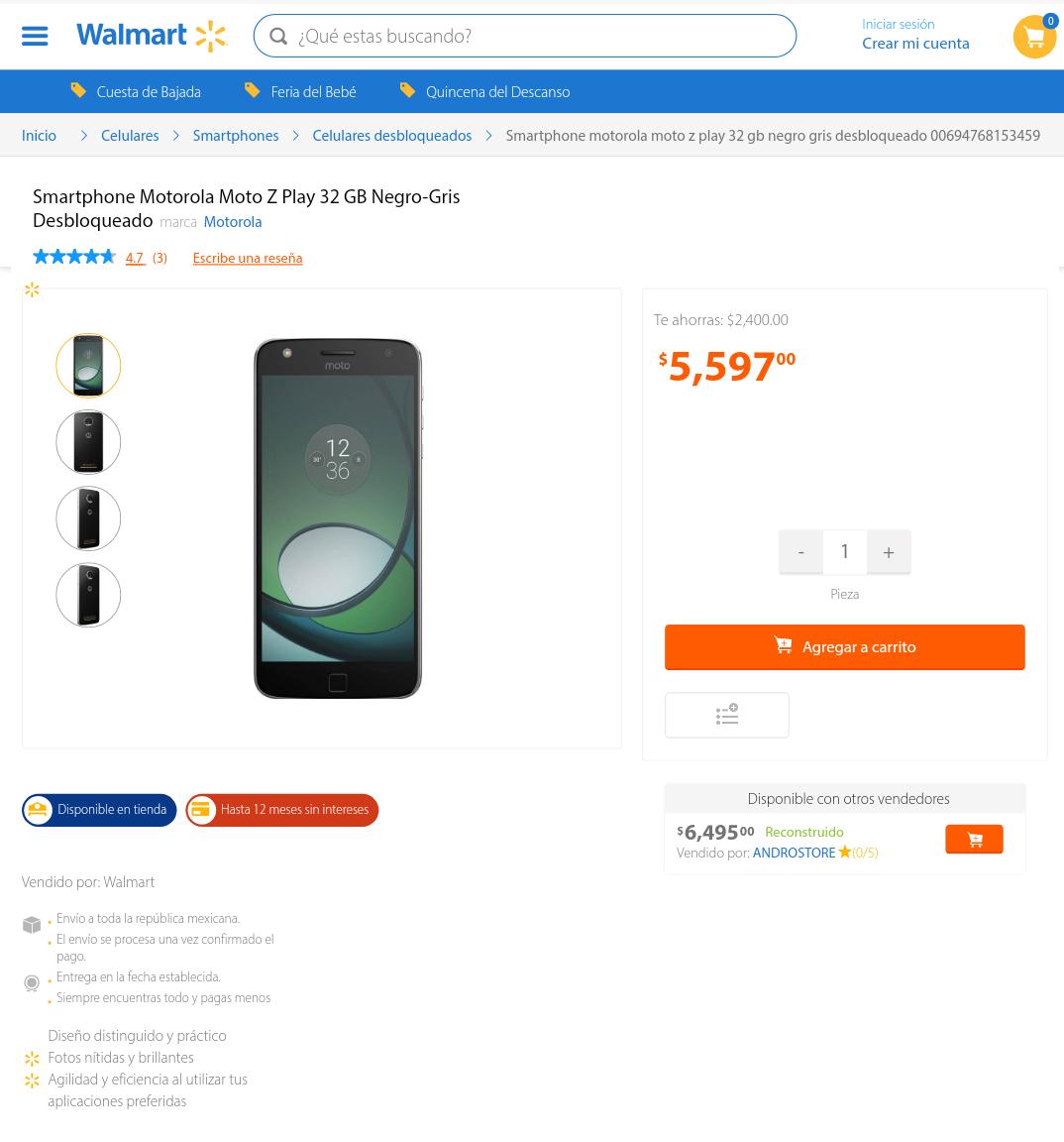 Walmart: Moto Z Play