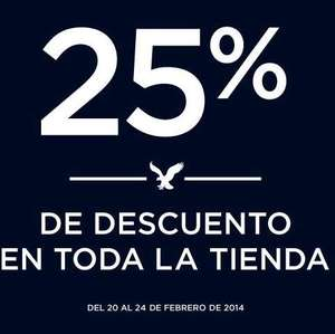 Aniversario American Eagle: 25% de descuento en toda la tienda