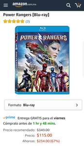 Amazon: Power Rangers Blu-ray