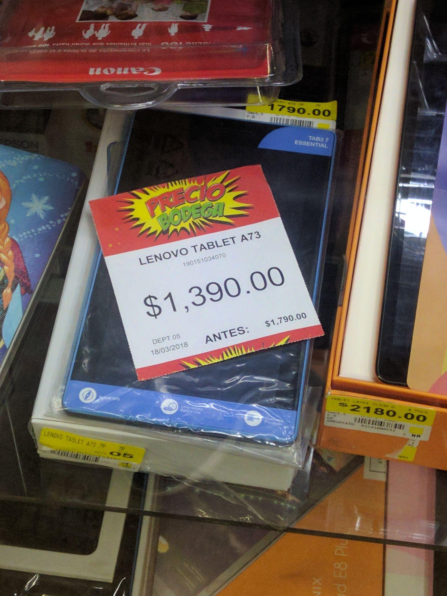 Bodega Aurrerá: Tablet Lenovo A7 a $1,390