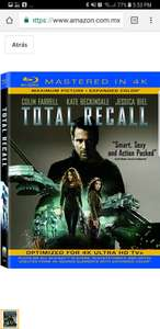 Amazon: Total Recall [Blu-ray 4K] Aplica Prime
