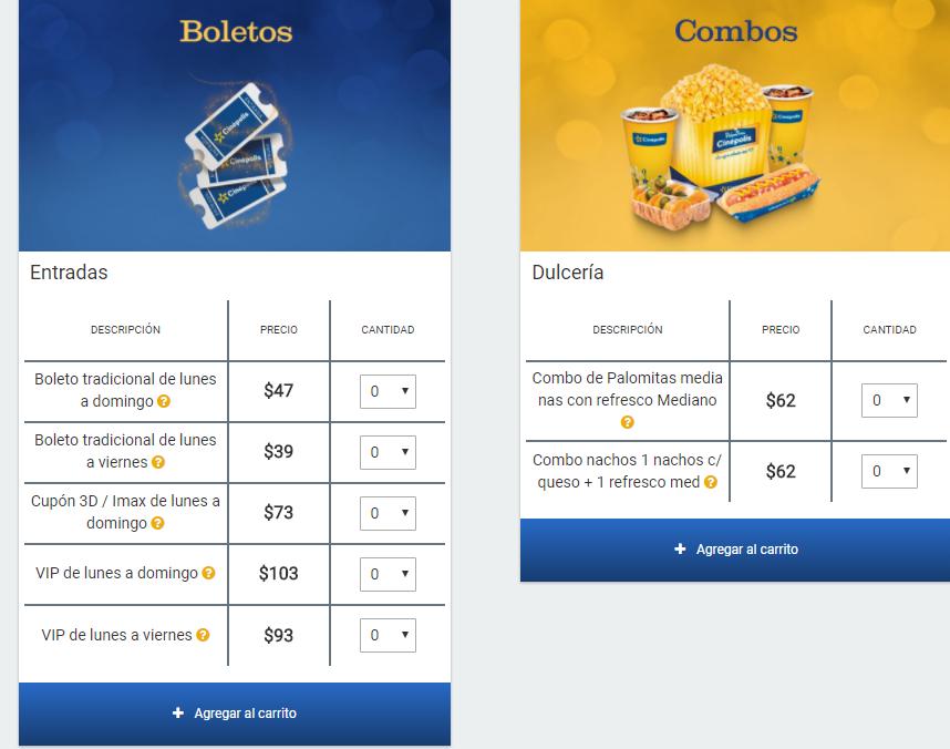 Cinepolis: precio especial entradas y combos para miembros sam´s benefits