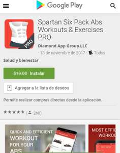 Google Play: Spartan Six Pack Abs Antes $19 Ahora GRATIS