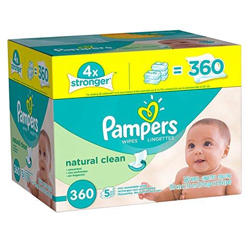 Amazon: Pampers Toallas Húmedas para Bebé, 360 Toallas $157.06 con PRIME