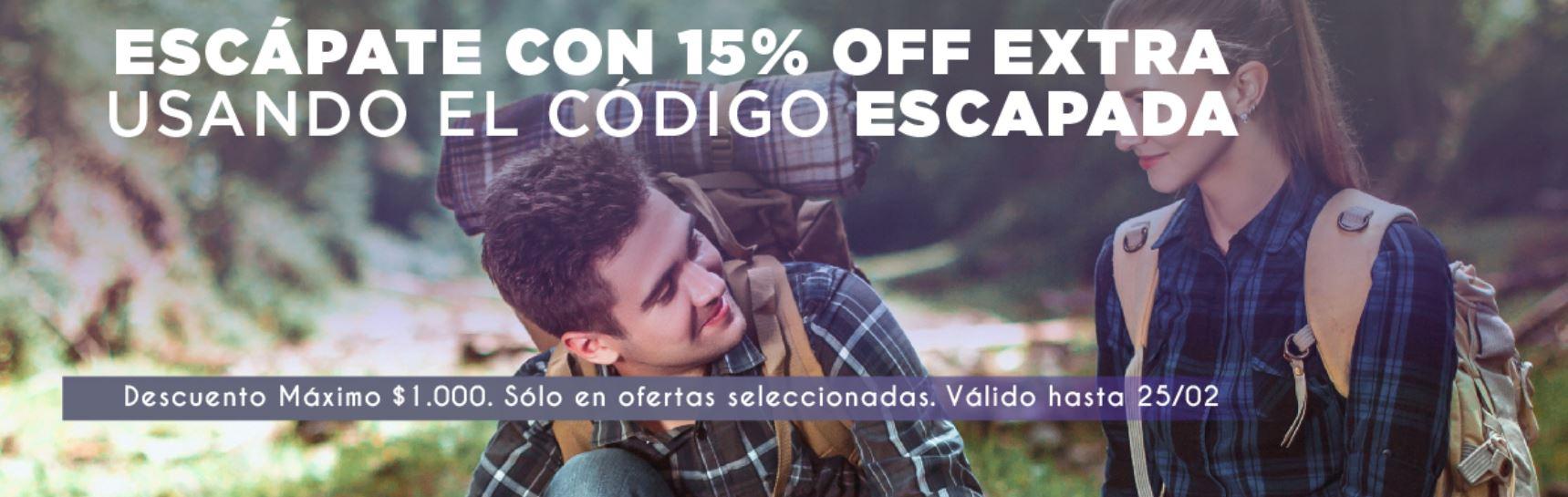 Groupon: 15% de descuento en viajes