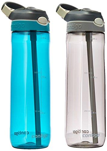 Amazon: Contigo Autospout Ashland Botella de agua con popote, Paquete con 2, 24 oz