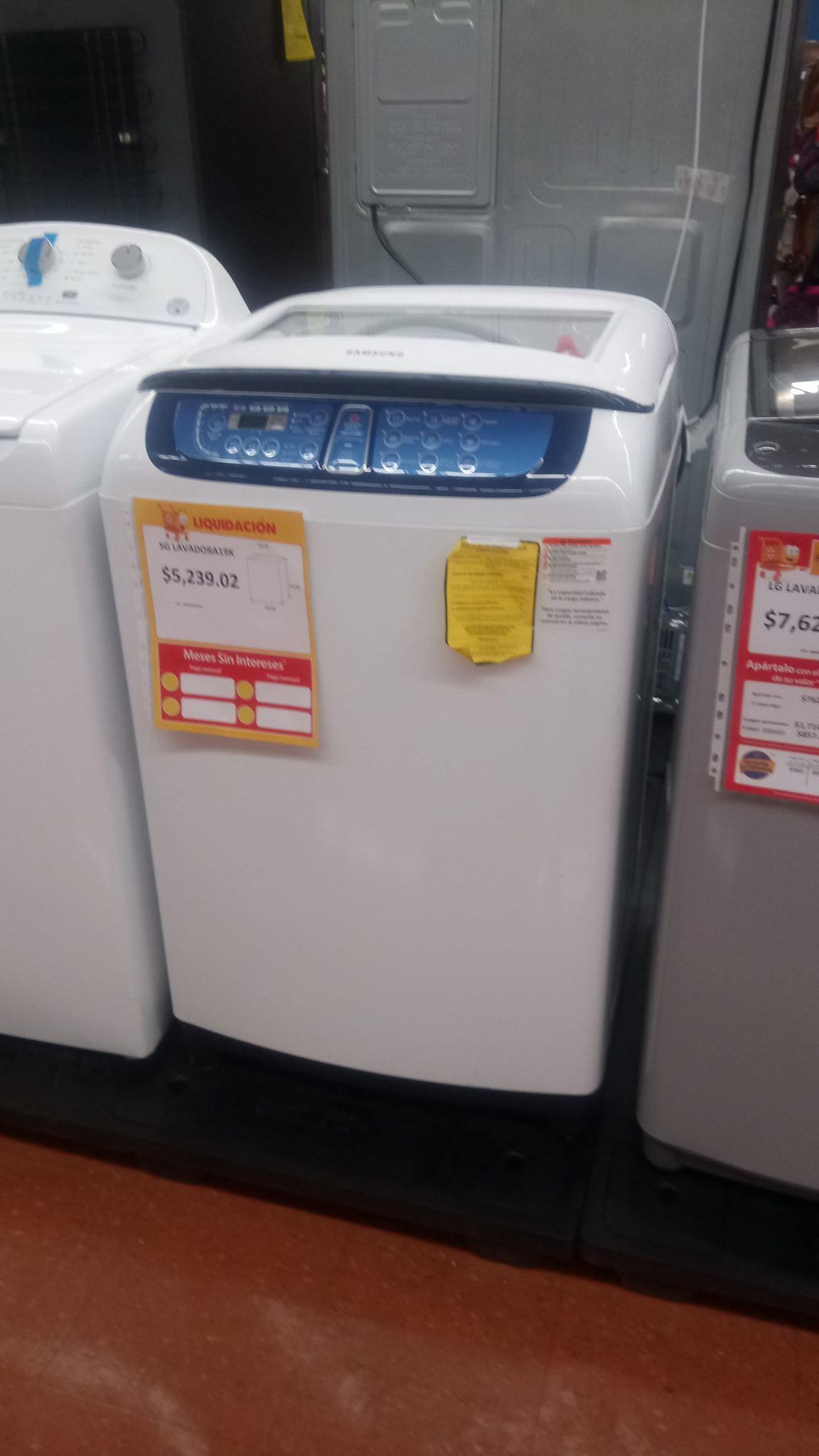 Walmart: Lavadora Samsung 19 kilos $5,239.02