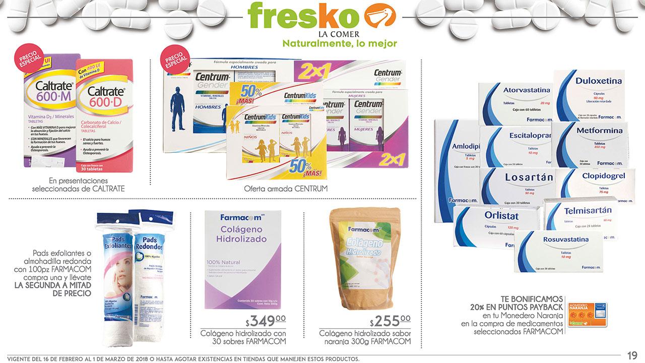 La Comer y Fresko: Folletos vigentes al 1 de marzo ¡Bonificaciones en productos orientales y en medicamentos de marca propia seleccionados!