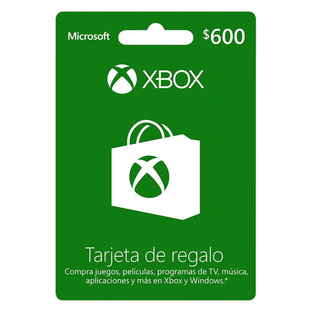 Walmart: Tarjeta Xbox prepago de $600 a $510 ($460 con cupón del Newsletter)