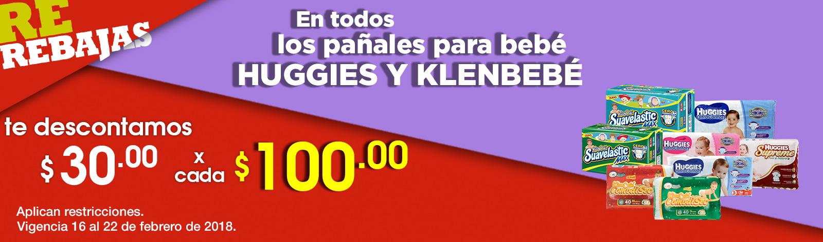 Comercial mexicana y MEGA: $30 de descuento por cada $100 en pañales Huggies y KleenBebé