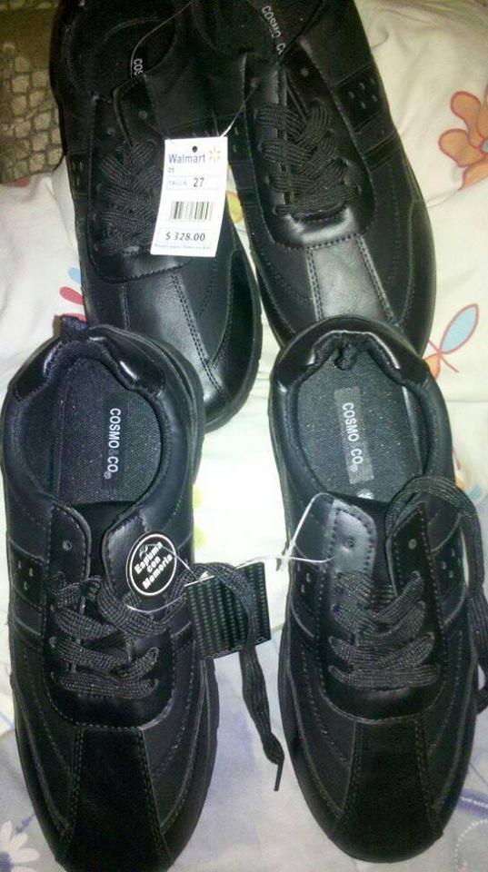 Walmart: liquidación  zapato de caballero marca cosmo co.