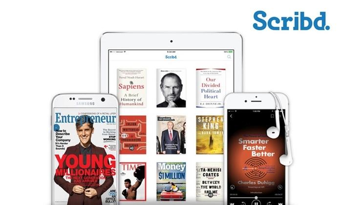 Tres meses gratis de Scribd premium (+ un año de Mubi y otros servicios gratis).