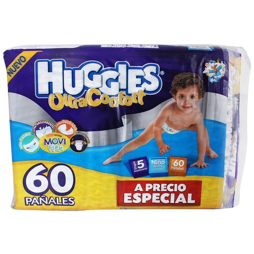 Chedraui: Pañal Huggies Ult Confort Et5 Niño 60Pz