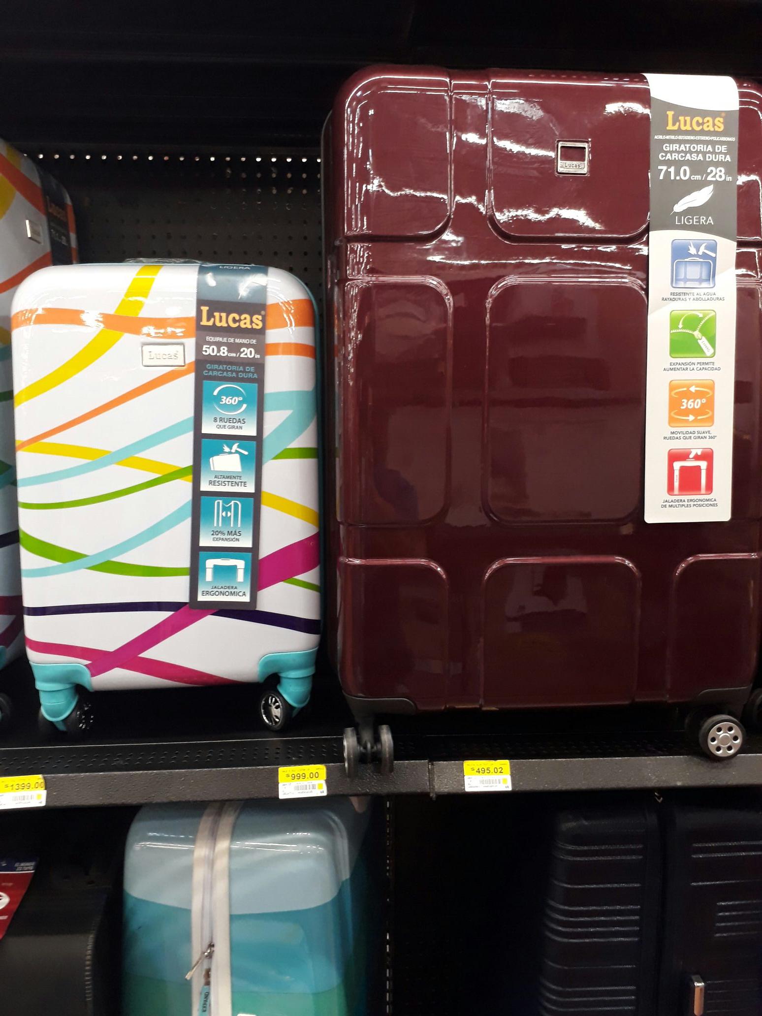 Walmart: Maleta expandible Lucas de $1,599 a $148.01 + promonovela.