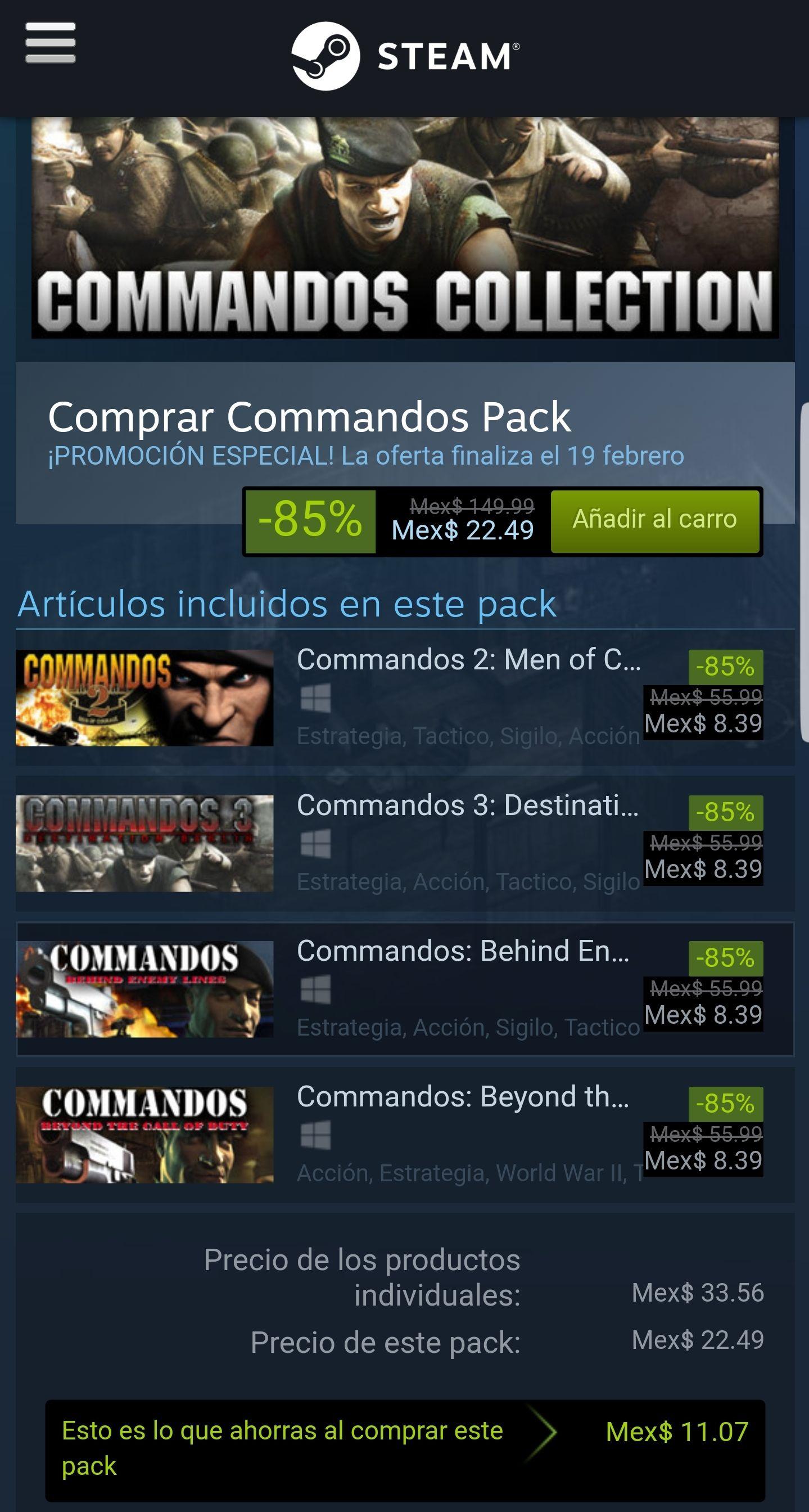 Steam: Commandos collection