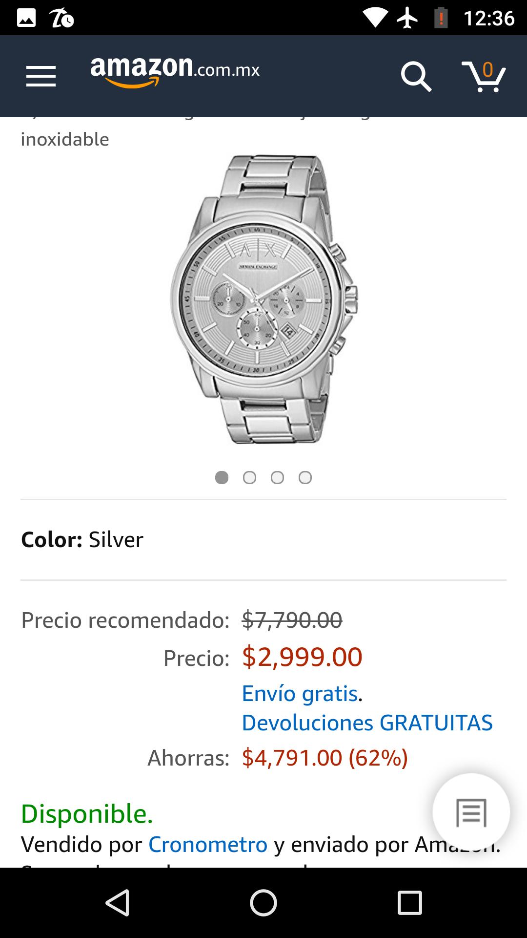 Amazon: Armani Exchange reloj