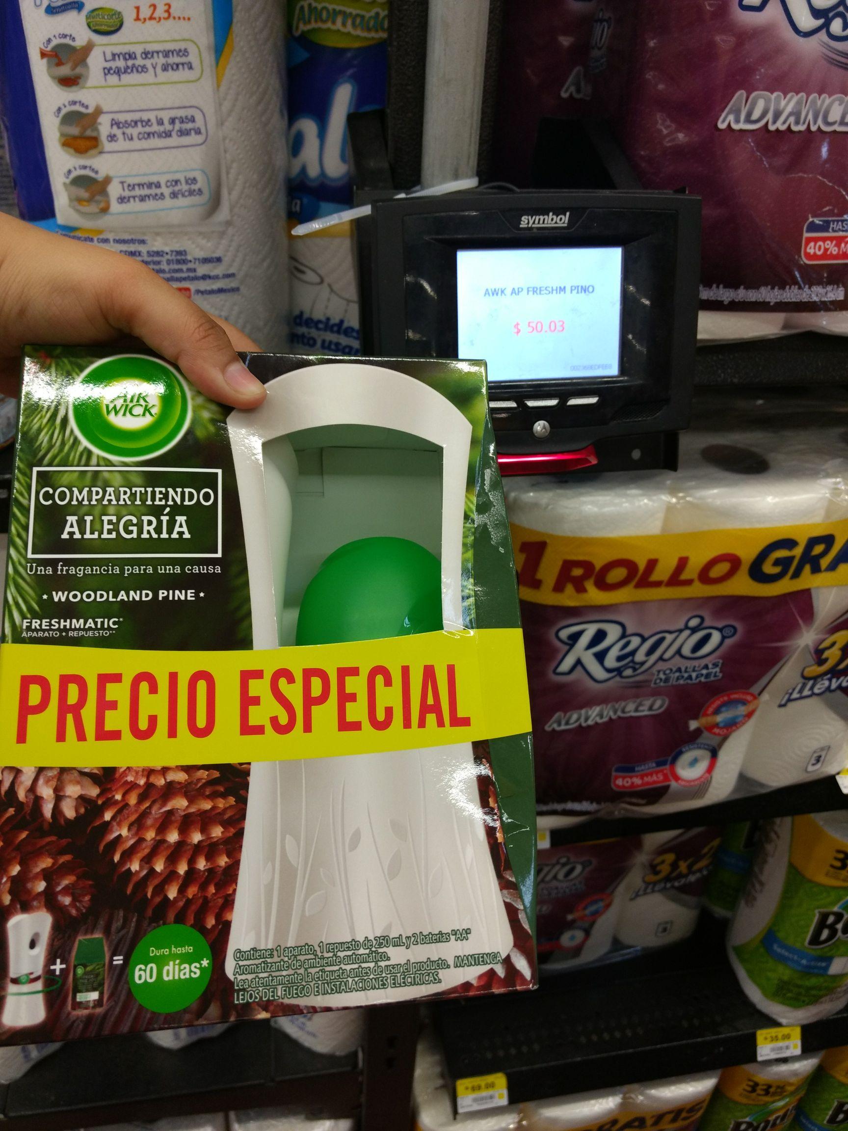 Walmart La Pastora: aromatizante automático Pino Air Wick a $50.03