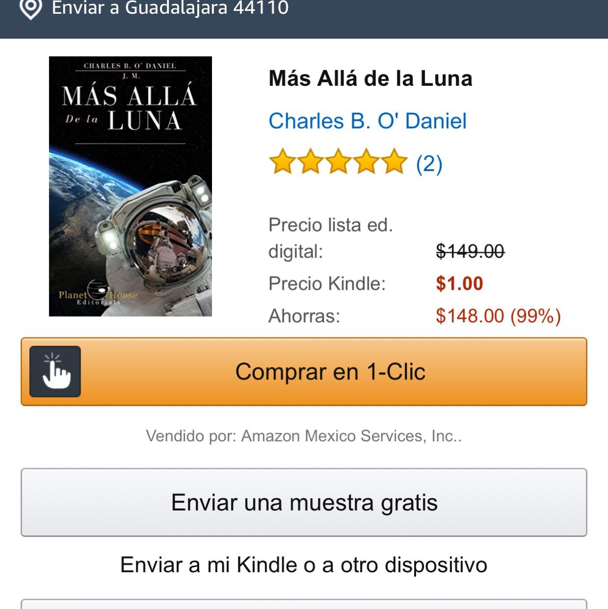Amazon Kindle: Libro Más allá de la luna