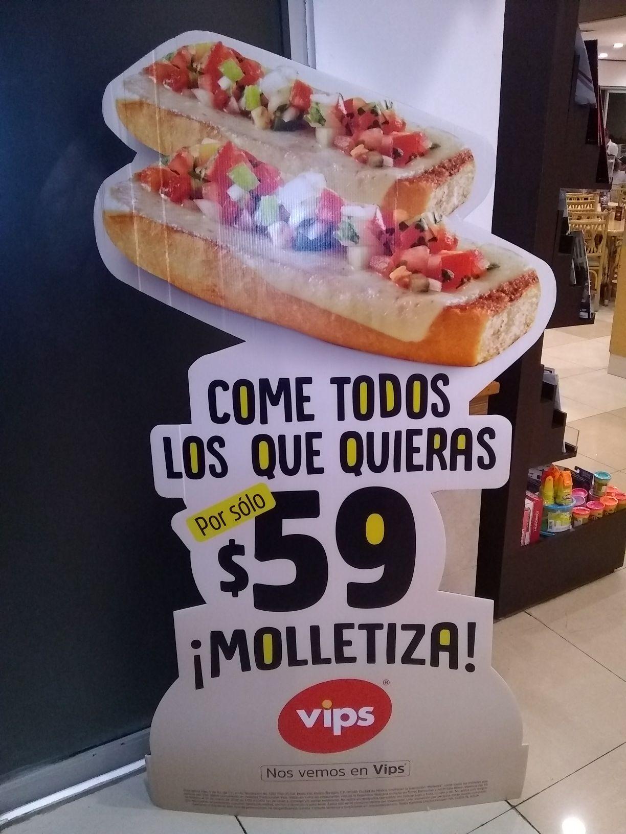 VIPS: Molletiza!!! Come todos los molletes que puedas por $59!