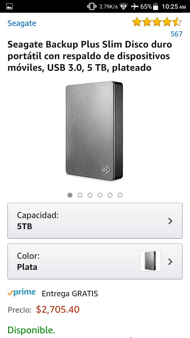 Amazon: Seagate Disco Duro 5 Tb Portatil STDR5000101