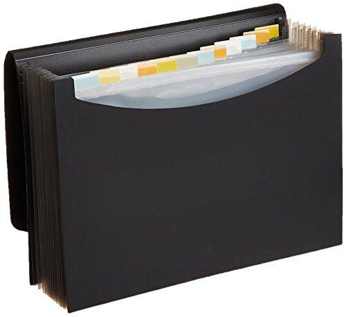 Amazon: Carpeta de archivo desplegable tamaño carta, negro AmazonBasics