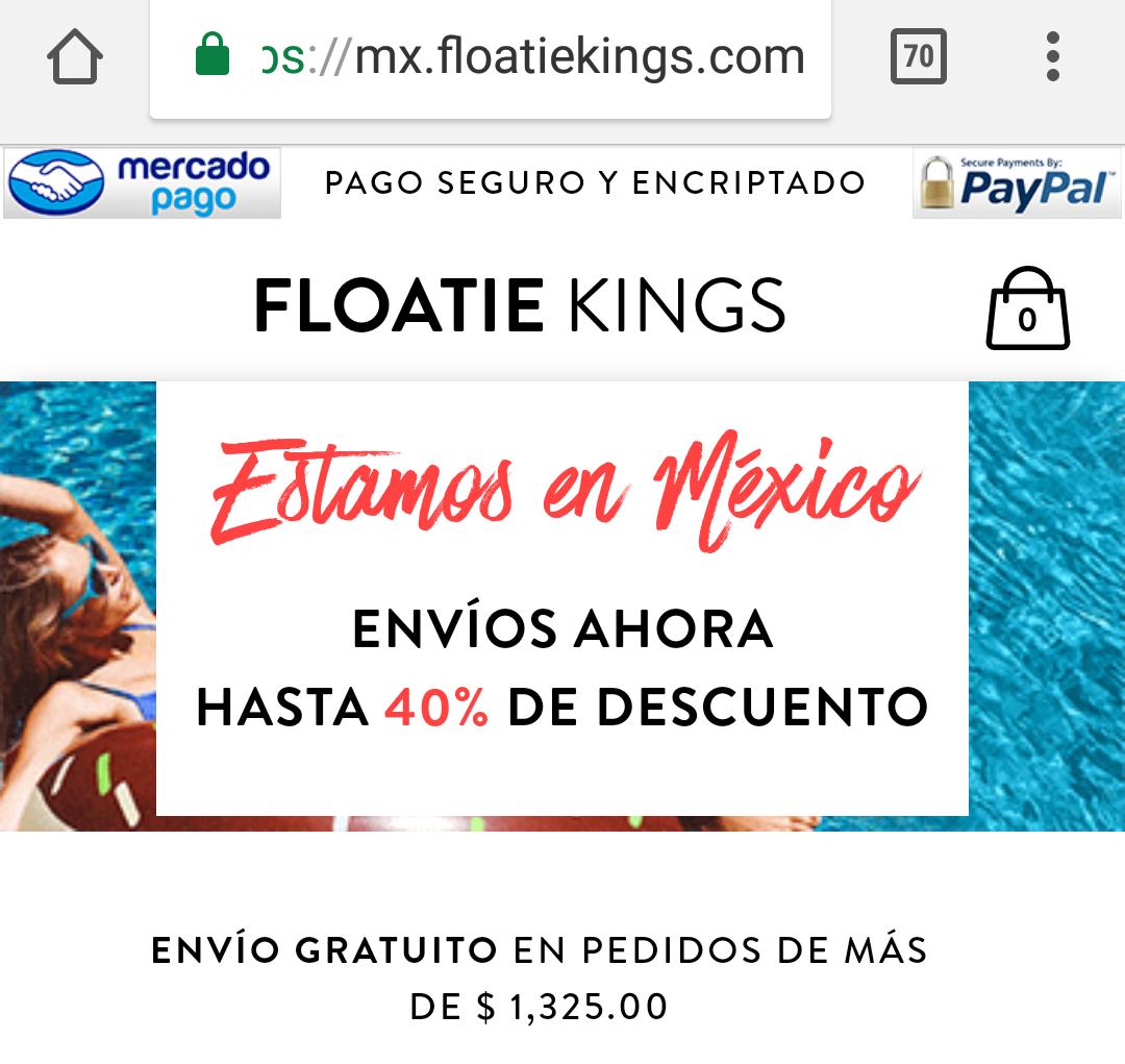 Floatie Kings MX: HASTA 40% de descuento