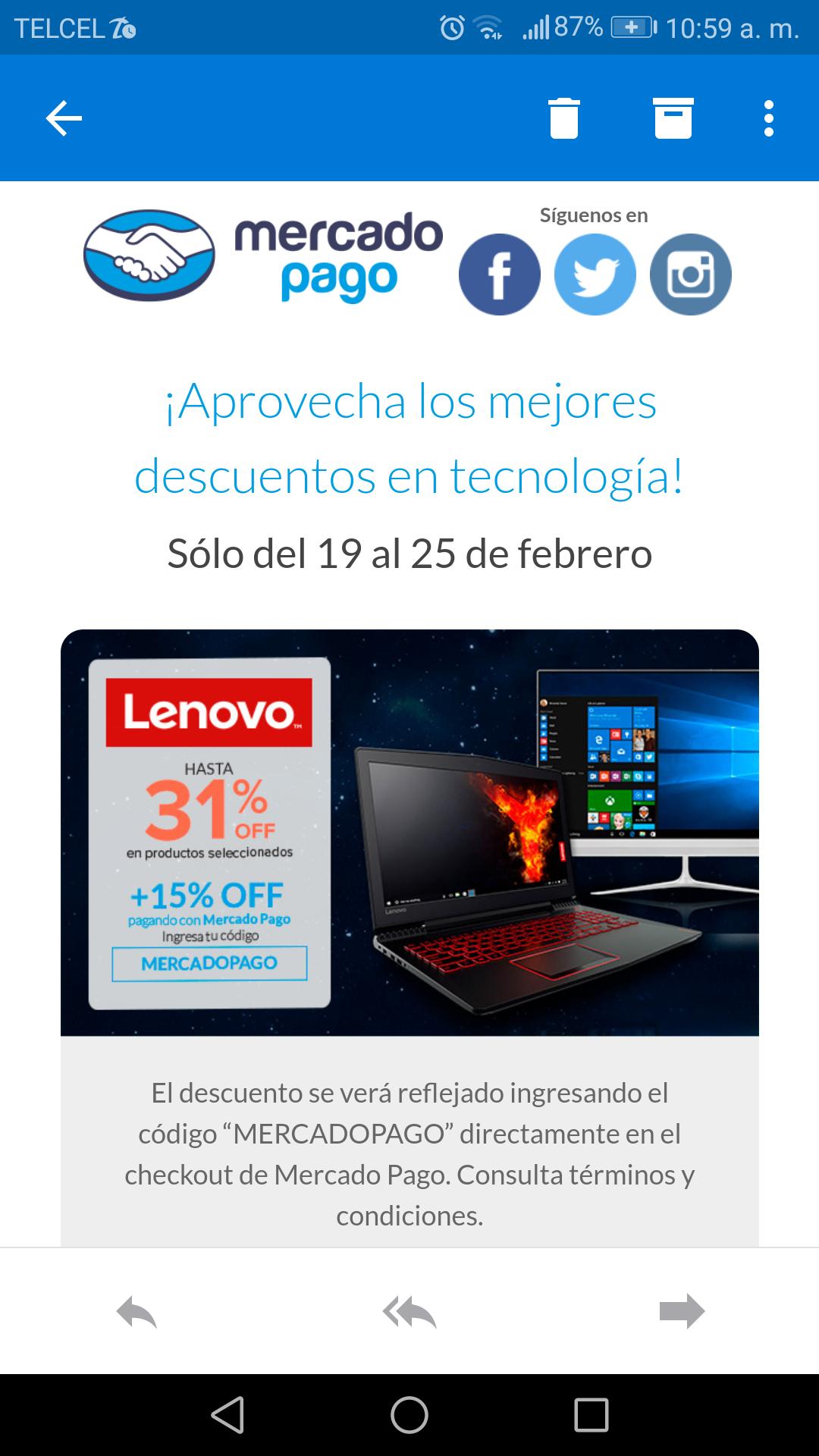 Lenovo: Aprovecha hasta 30 % off en lenovo! + 15 % off pagando con mercado pago