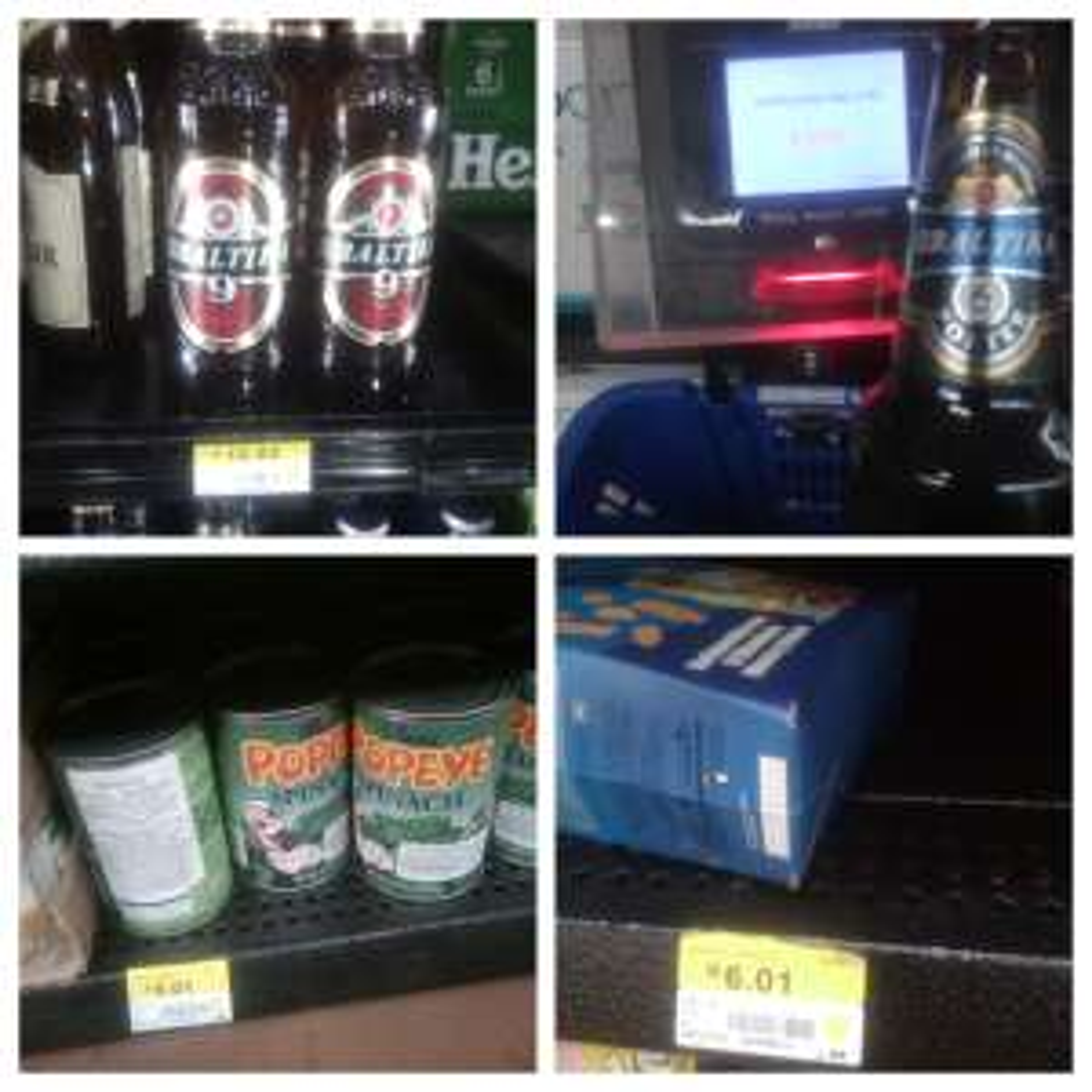 WALMART : Cerveza Baltika Porter y Lager