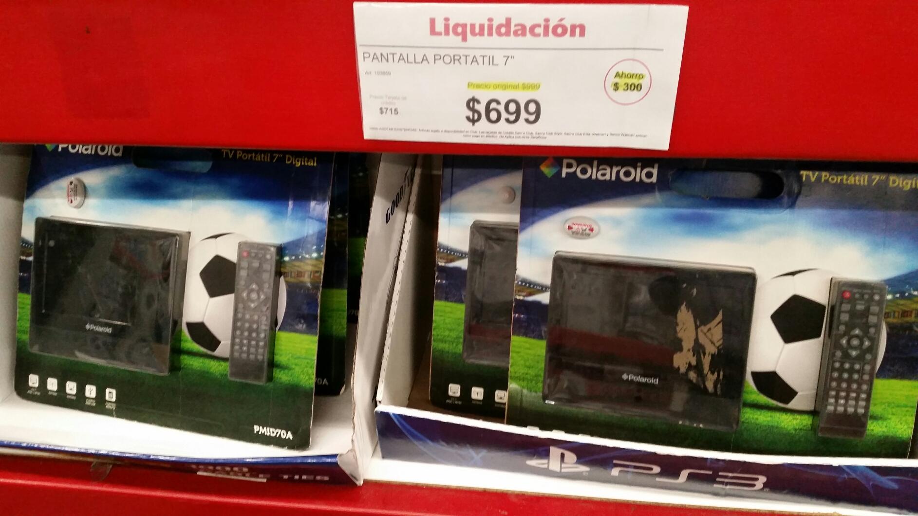 Sam's Club: Televisión portátil Polaroid a $699